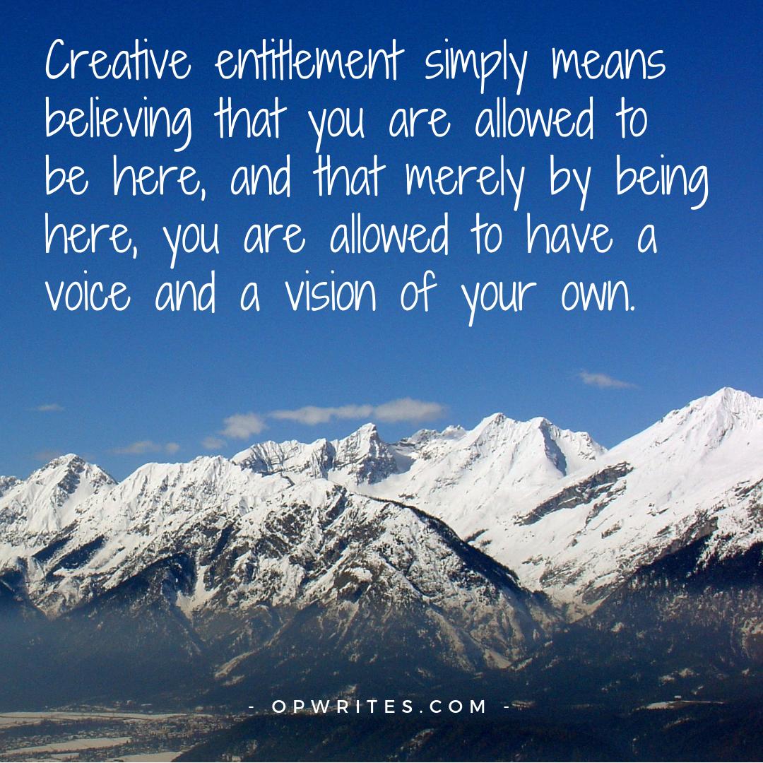 Creative entitlement